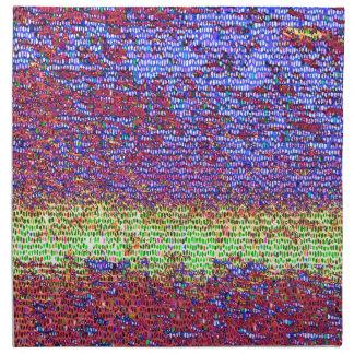Lila und gelbes Mosaik Stoffserviette