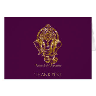 Lila und GoldGlitter-Inder danken Ihnen zu Karte