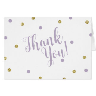 Lila und GoldGlitzer danken Ihnen Karten