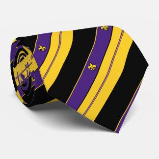Lila und GoldLilien-Muster Bedruckte Krawatten