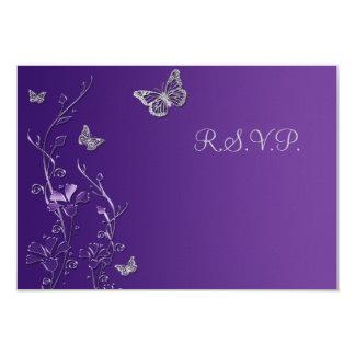 Lila und graues Blumen mit 8,9 X 12,7 Cm Einladungskarte