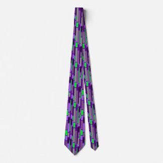 Lila und grüne Sechzigerjahre retro Art-Krawatte Krawatte