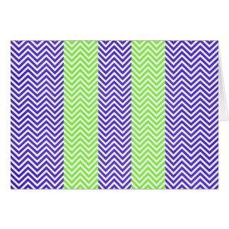 Lila und Limone grüne gestreifte Zickzack Karte