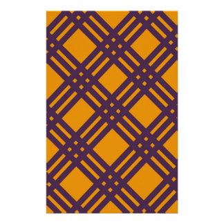 Lila und orange Gitter Briefpapier