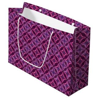 Lila und rosa Mosaik-Vintages Muster Große Geschenktüte