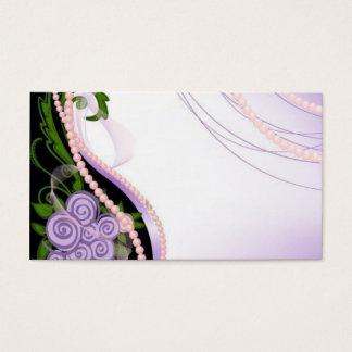Lila und rosa Perlen-Blumen Visitenkarte