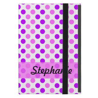 Lila und rosa Polka-Punkte Etui Fürs iPad Mini