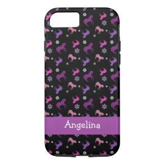 Lila und rosa Pony-Winter iPhone 7 Kasten iPhone 8/7 Hülle