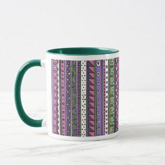 Lila und rosa Stammes- Muster Tasse