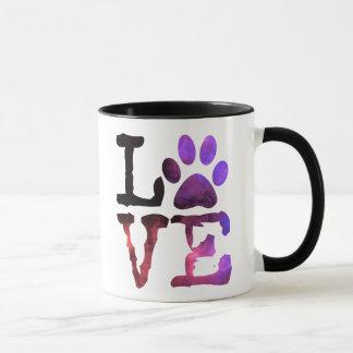 Lila und rosa Tatzen-Druck-Kaffee-Tasse Tasse
