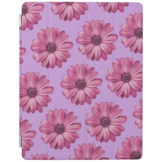 Lila und rosa tropischer Blumendruck iPad Smart Cover
