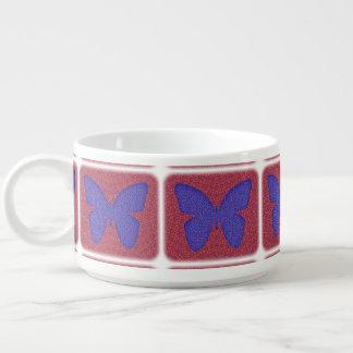 Lila und roter Schmetterling Kleine Suppentasse