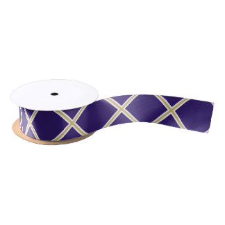 Lila und Satin-Band Goldx Satinband