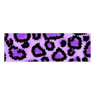 Lila und schwarzes Leopard-Druck-Muster Visitenkartenvorlagen