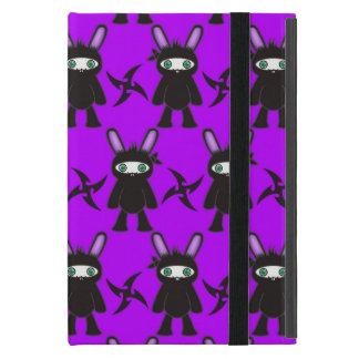 Lila und schwarzes Ninja Häschen-Muster Schutzhülle Fürs iPad Mini