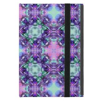 Lila und Türkis-Hippy Fraktal-Muster iPad Mini Schutzhüllen