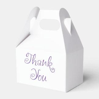 Lila und Weiß danke Hochzeits-Party Geschenkschachtel