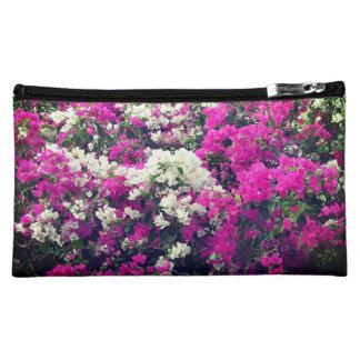 Lila und weiße Blumen mittlere Cosmetic Bag