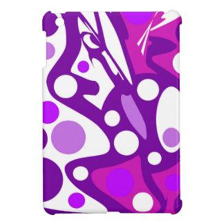 Lila und weißer abstrakter Dekor iPad Mini Hülle