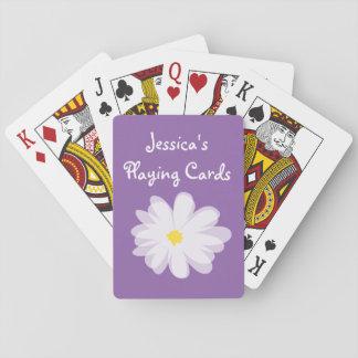 Lila und weißer girly spielkarten