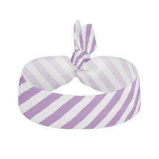 Lila und weißes diagonales Streifen-Muster Haargummi
