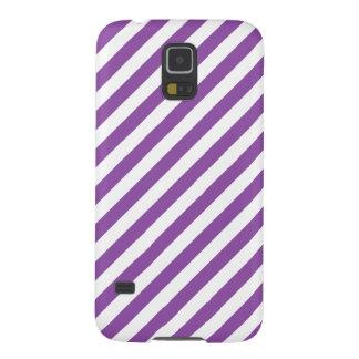 Lila und weißes diagonales Streifen-Muster Samsung S5 Hüllen