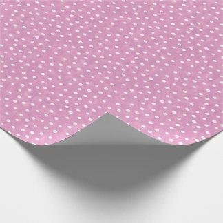 Lila und weißes Polka-Punkt-Muster Geschenkpapier