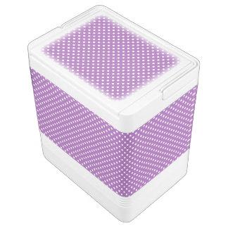 Lila und weißes Polka-Punkt-Muster Igloo Kühlbox