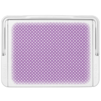 Lila und weißes Polka-Punkt-Muster Kühlbox
