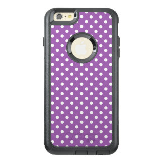 Lila und weißes Polka-Punkt-Muster OtterBox iPhone 6/6s Plus Hülle