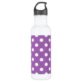 Lila und weißes Polka-Punkt-Muster Trinkflasche