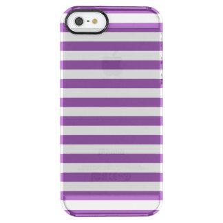 Lila und weißes Streifen-Muster Durchsichtige iPhone SE/5/5s Hülle