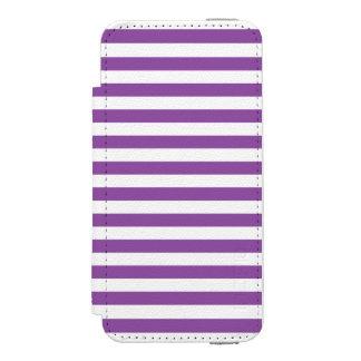 Lila und weißes Streifen-Muster Incipio Watson™ iPhone 5 Geldbörsen Hülle