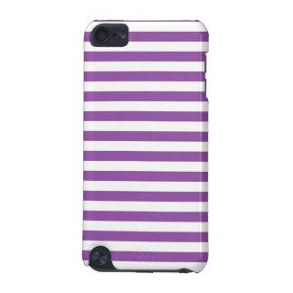Lila und weißes Streifen-Muster iPod Touch 5G Hülle