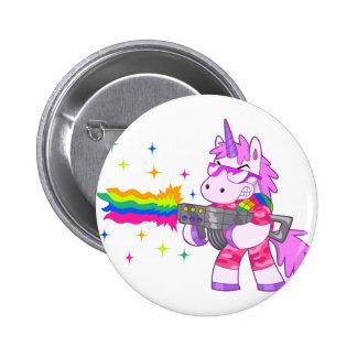 Lila Unicorn - Gewehr Runder Button 5,7 Cm