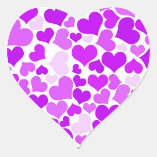 Lila Veilchen-Herz-Muster-romantisches hübsches Herz-Aufkleber