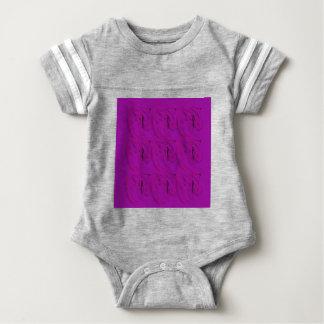 Lila Verzierungen/Geschäft Baby Strampler
