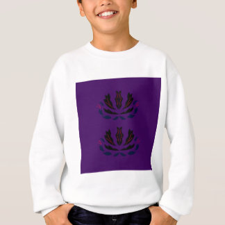 Lila Verzierungen Vintage   LILA PFLAUME Sweatshirt