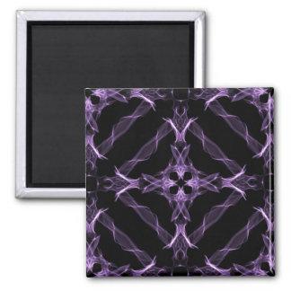 Lila viktorianisches quadratischer magnet