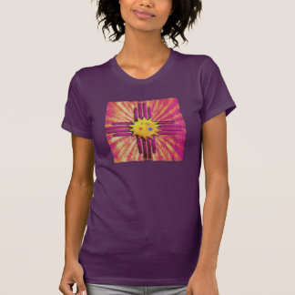Lila Vintage New-Mexiko Flagge T-Shirt