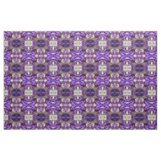 Lila, violette und malvenfarbene Iris abstrakt Stoff
