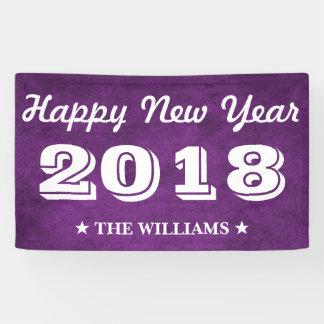 Lila violettes glückliches neues Jahr 2018 des Banner