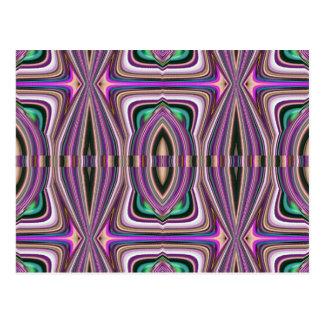 Lila violettes Skizze-Azteke-Muster Postkarte