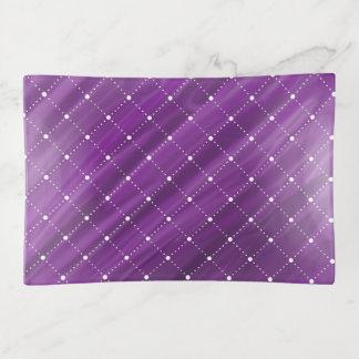 Lila violettes Watercolor-und Diamant-Muster Dekoschale