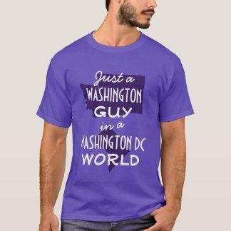 Lila Washington-Staats-Typ in DC T-Shirt