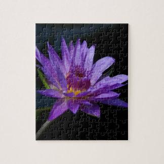 Lila Wasserlilie-Lotos Puzzle