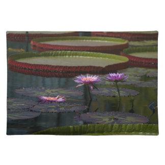 Lila Wasserlilie-Lotos Tischset