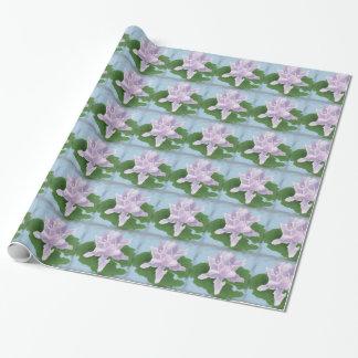 Lila Watercolor-Blumenverpackungs-Papier Geschenkpapier