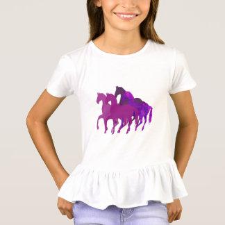 Lila Watercolor-Fantasie-Pferdemoderne Gewohnheit T-Shirt