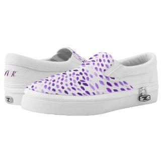 lila Watercolormuster Slip-On Sneaker